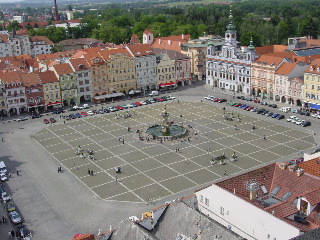 ceske budejovice, namesti